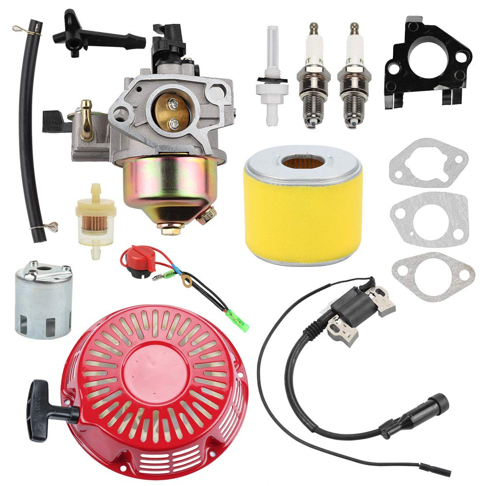 Wellsking 16100-ZE3-V01 Carburetor with 17210-ZE3-505 Air Filter for Honda GX390 GX 390 GX340 GX340U1 GX340R1 GX340K1 11HP Engine WT40XK1 WT40XK2 WT40XK3 Water Pump
