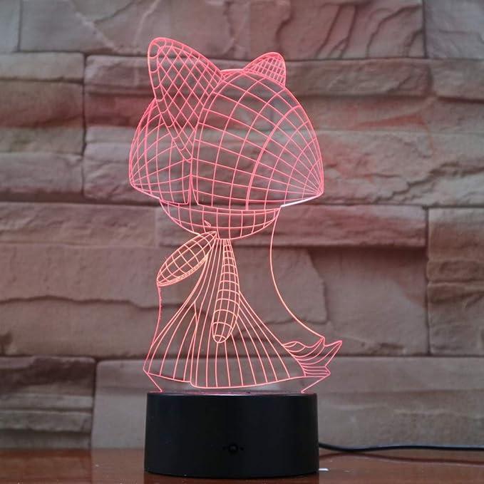 Orangeww Flower Table Lamps 3d Led Usb Lamp Night Lights ...