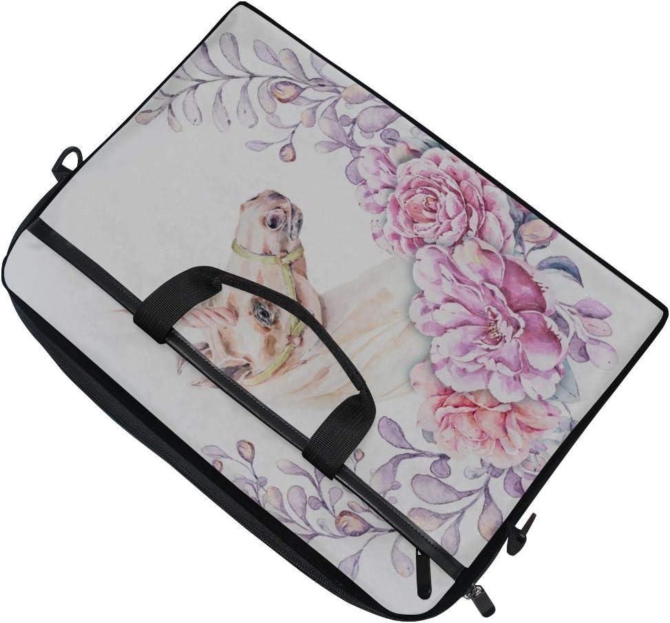 Laptop Bag Unicorn Flowers 15-15.4 Inch Laptop Case College Students Business People Office Workers Briefcase Messenger Shoulder Bag for Men Women