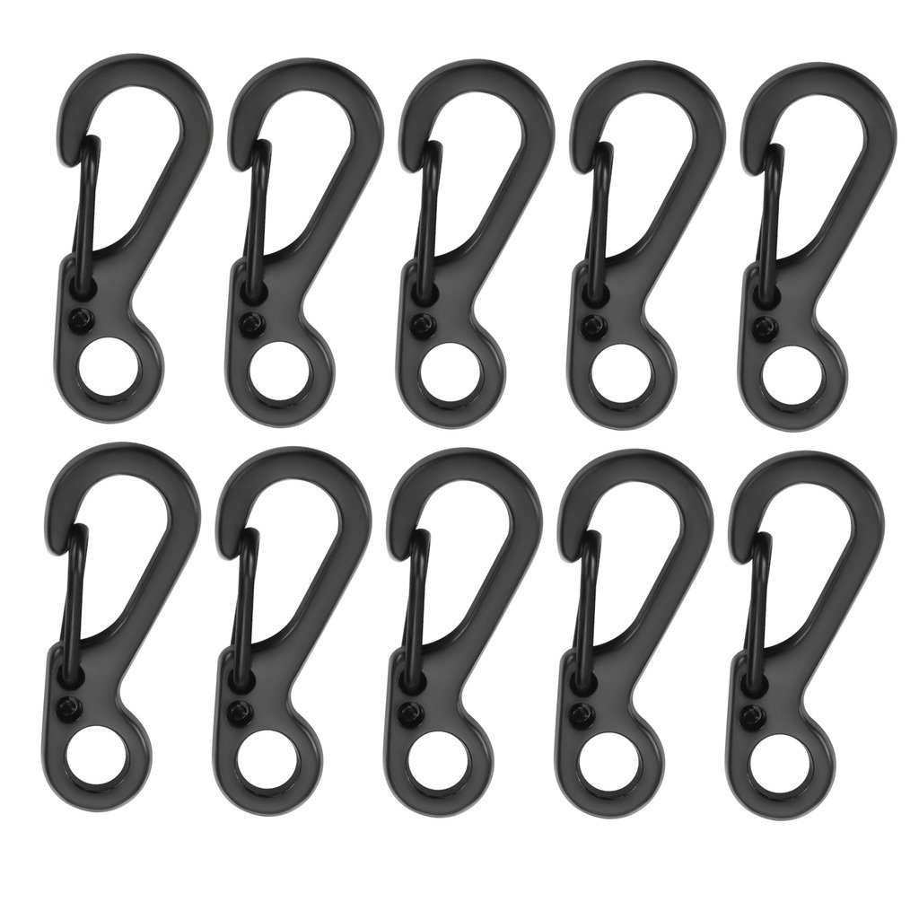Mini Paracord S Keychain Carabiner Clip,SF Spring Backpack Clasps Lock Hook for Outdoor EDC Camping Tactical Survival Gear(Pack/10PCS) Michael Josh