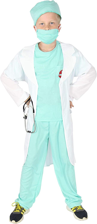 FOXXEO Disfraz de médico para niños con Abrigo de médico Médico ...
