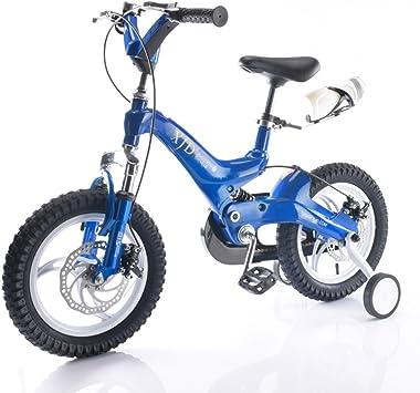 Bicicleta de los niños, amortiguador doble 3-6 años 14/16 pulgadas ...