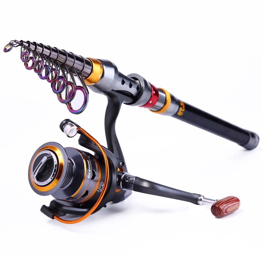 Spinning伸縮釣りポールスピニングリール釣りロッドとリールコンボポータブル旅行用海水淡水釣り(2.1 B07F2TL8D2 m) B07F2TL8D2, ノダガワチョウ:76d3955a --- ferraridentalclinic.com.lb