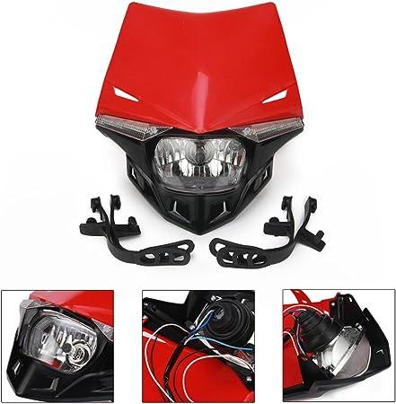 Red Universal Enduro Motorcycle Headlight Motorbike Pit Bike Light CRF XR CR MT