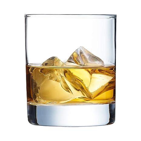 Arcoroc J4239, Islande Vaso de Whisky 300ml, sin la Marca de Llenado, 6 Vidrio