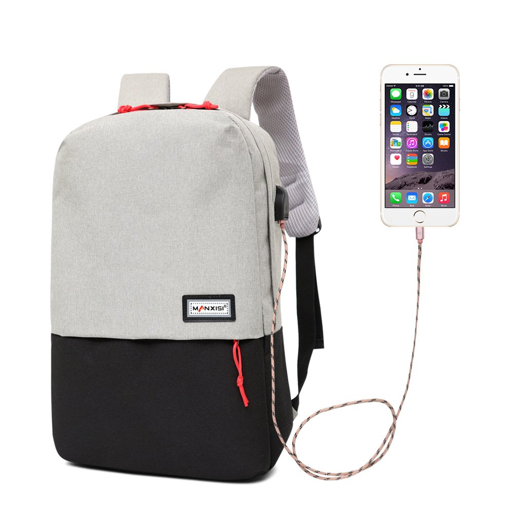2941b783ad18 best Travel Laptop Backpack with USB Charging Port,Slim College ...