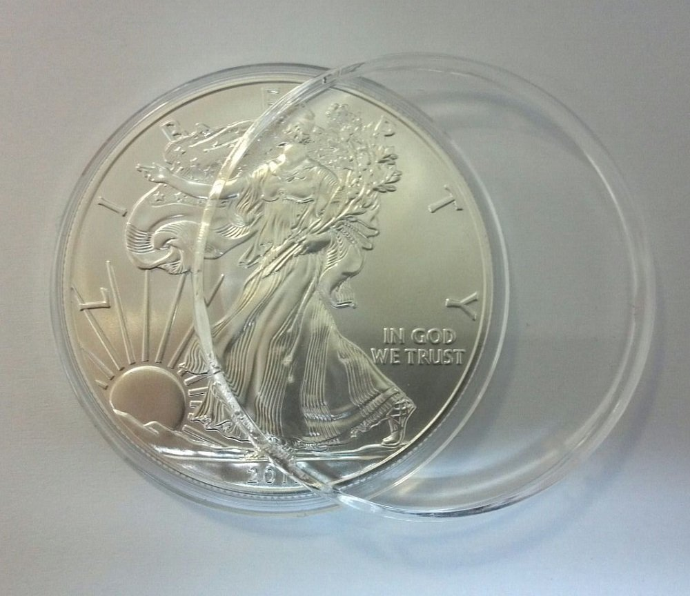 American Silver Eagle .999 Fine Silver in Direct Fit Air Tite with our Certificate of Authenticity Dollar Uncirculated Us Mint 2020