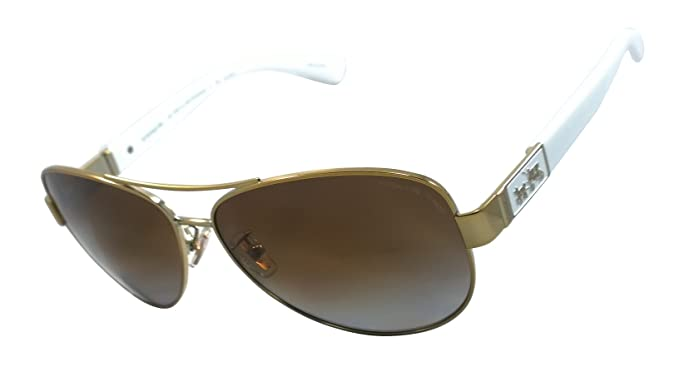 06ad22ae587 Image Unavailable. Image not available for. Colour  Coach Hc7047 (L103  Christina) 100% Authentic Women s Polarized Sunglasses (Gold   White