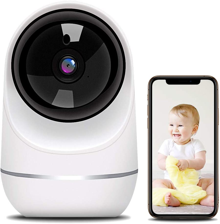 Baby Monitor, 1080P Pet Camera Wireless Security Camera with Motion Detection Human Detection Two Way Audio and Cloud Storage Support 2.4G WiFi Night Vision Remote View for Home Baby Pet