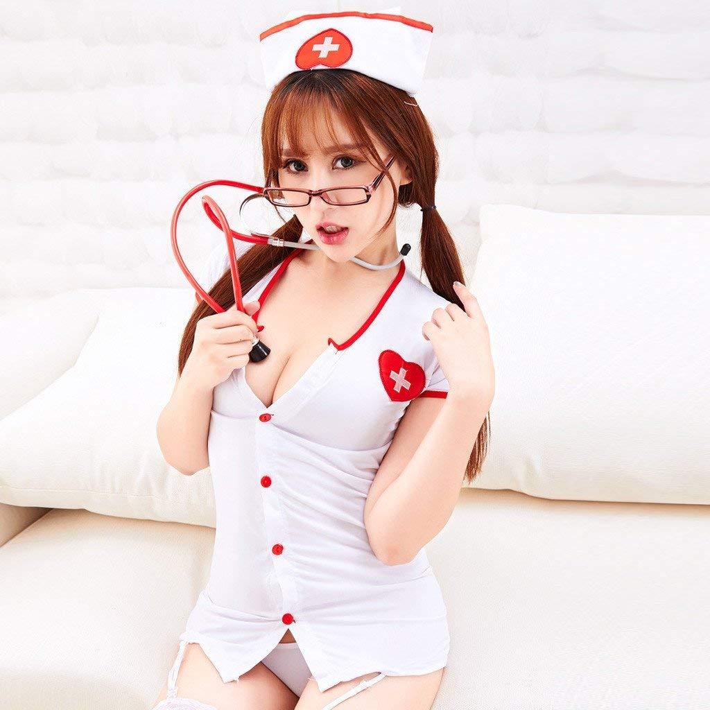 Luckycat Uniforme de Enfermera Sexy de la Ropa Interior de la Mujer de Las Mujeres Traje de la Ropa Interior de la tentación de Traje de Sexy Enfermera ...