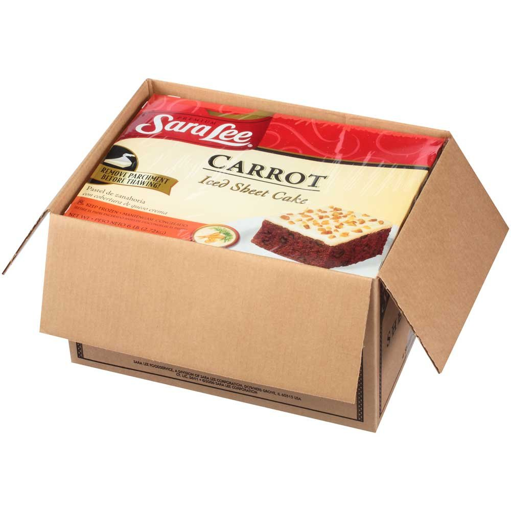 Sara Lee Iced Carrot Sheet Cake, 12 x 16 inch -- 4 per case. by Sara Lee