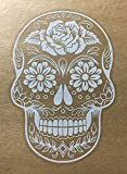 OSMdecals - Sugar Skull Sticker Version 38 - Day of the Dead Vinyl Wall Home Decor Car Window Decal Sticker