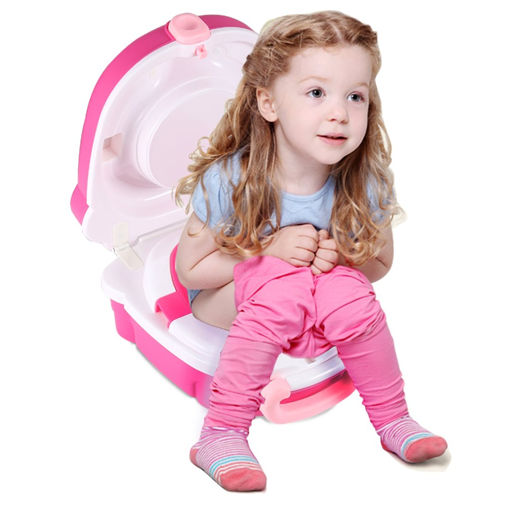 ONEDONE Portable Travel Potty Urinal for Boys and Girls Camping Car Travel - Perfect Mommy's Helper for Potty Training (Girl)