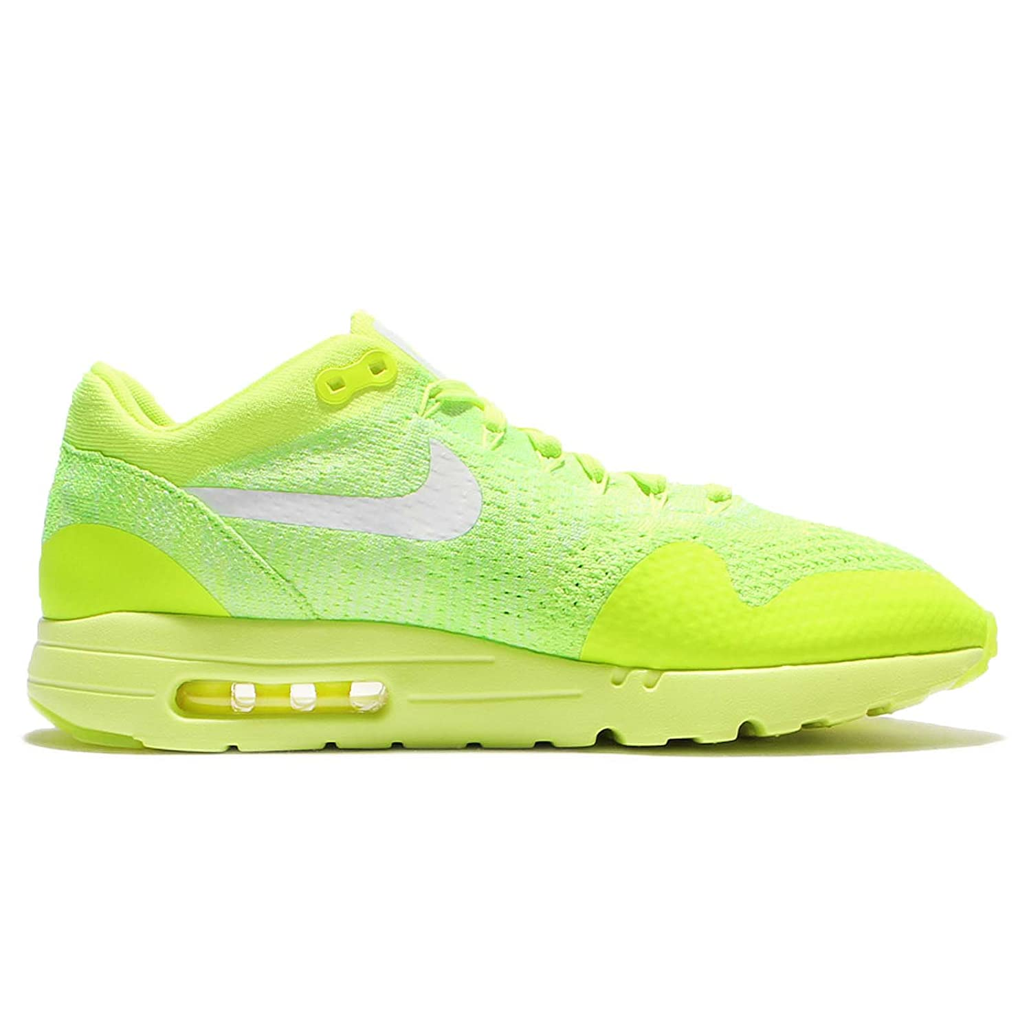new photos bff77 f0496 Amazon.com   Nike Men s Air Max 1 Ultra Flyknit, VOLT WHITE-ELECTRIC GREEN,  13 M US   Athletic