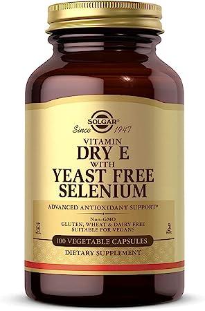Solgar Vitamina e con Selenio (sin levadura) Cápsulas vegetales - Envase de 100 (E3351)