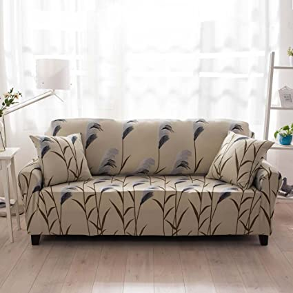 Genial Sofa Lounge Covers Brushed Floral Print 1 2 3 4 Seat Stretch Elastic  Slipcover Sofa Cover
