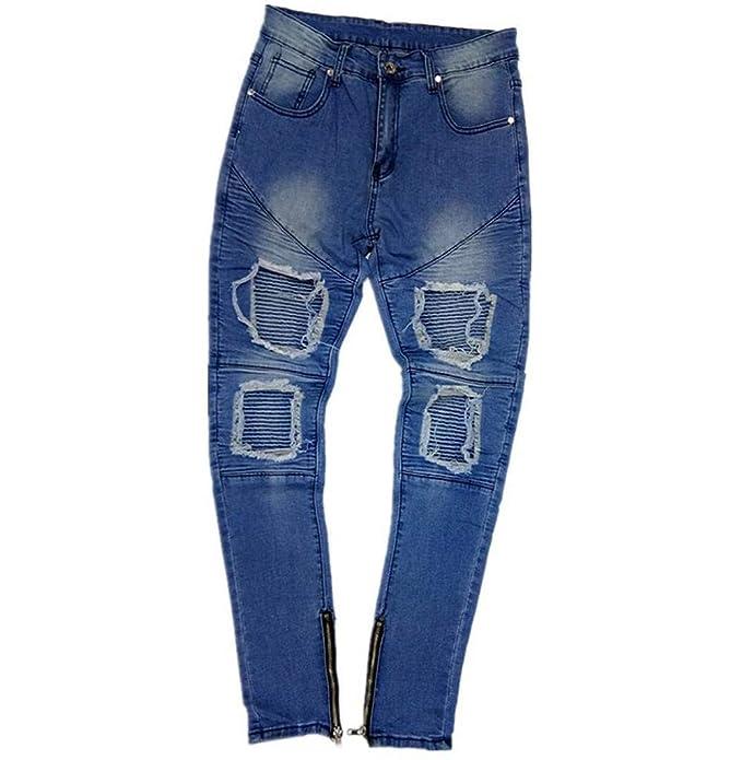 Tomatoa Herren Hose Jeans Stretch Jeanshose Skinny Fit Destroyed Used Stretch  Freizeithose Zipper Jeans Jeans Hosen Lange Hosen Slim Fit Basic Jeans Pants   ... 1e9bcde5e9