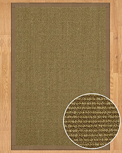 NaturalAreaRugs Sandstone Collection Sisal Area Rug, Handmade in USA, 100% Sisal, Non-Slip Latex Backing, Durable, Stain Resistant, Eco/Environment-Friendly, (4 Feet x 6 Feet) Fossil Border