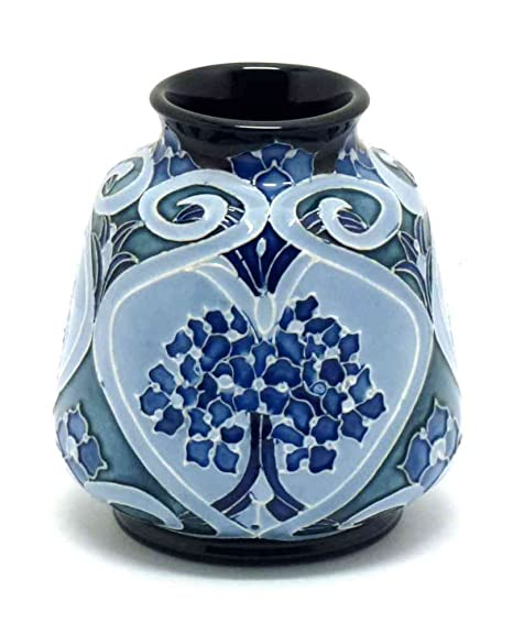 Moorcroft Pottery Forget Me Not Vase 1983 Height 3 Inches