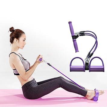 Bandas de tensión del ejercicio de resistencia de látex, KOLARK vendas Entrenamiento para el Situps estiramiento y Extensor de pecho-Adecuado para mujeres y ...