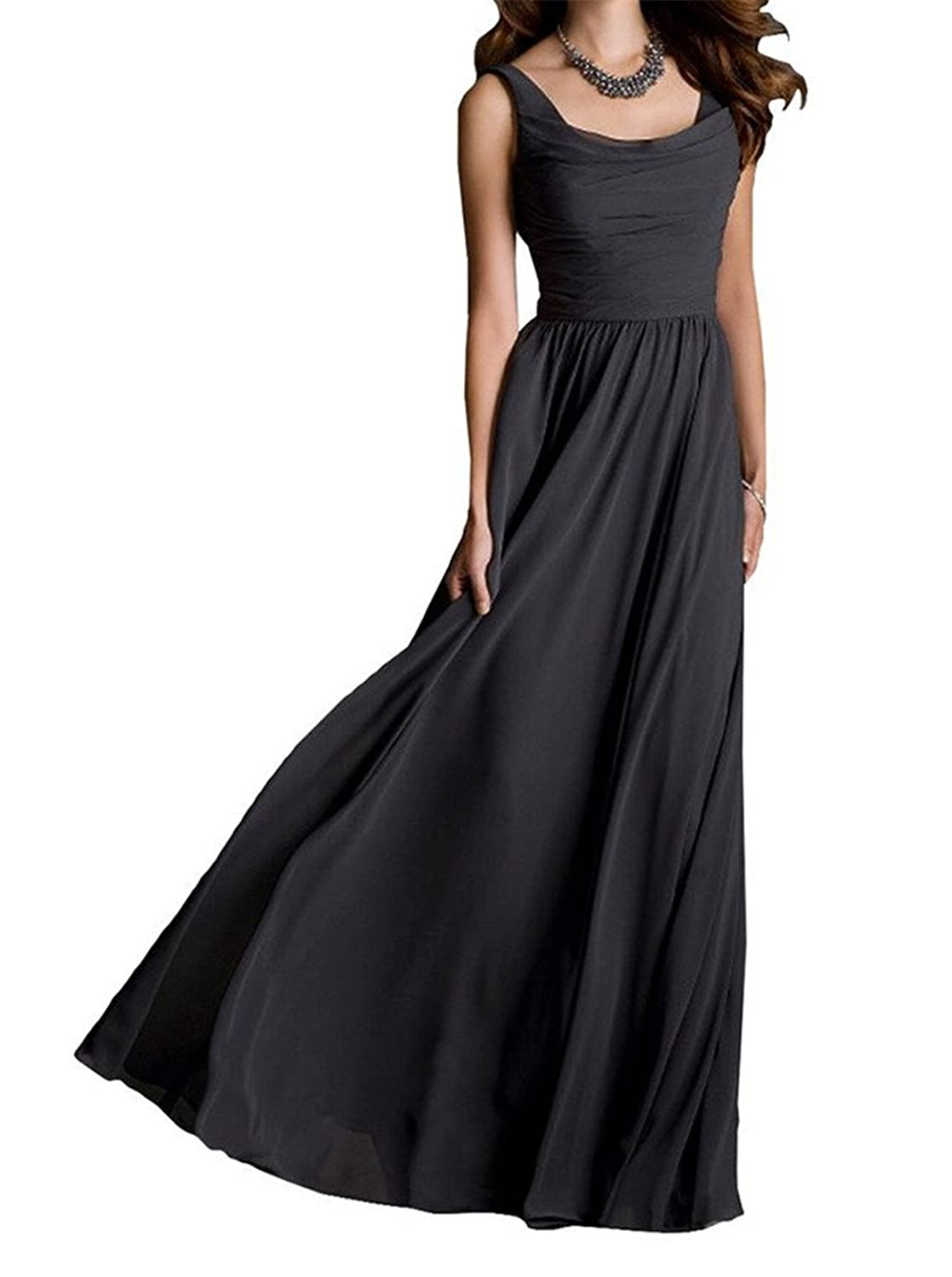 AngelDragon New Arrival Open Back Evening Gowns Long Chiffon Prom Dresses
