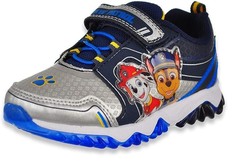 Nickelodeon Paw Patrol Boys Light Up Sneakers Blue//Navu Toddler//Little Kid