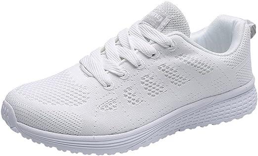 Proumy 💋 Zapatillas de Deporte de Mujer Transpirable Malla ...