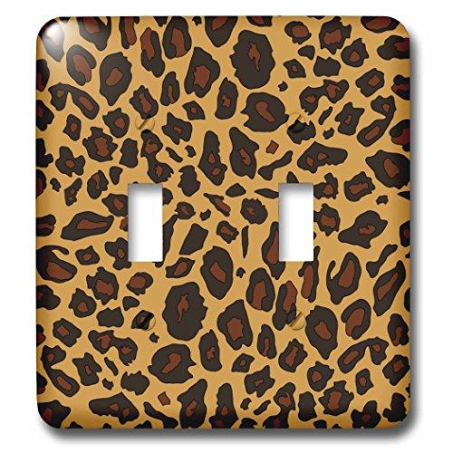 3dRose lsp_112932_2 Leopard Print Cheetah Spots Beige Brown Animal Skin Pattern Sassy Girly Stylish Animal Print Light Switch Cover (Cheetah Print Light Switch Cover)