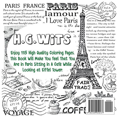 amazoncom the best paris france europe travel relaxation stress reduction adult coloring book enjoy many coloring pages of eiffel tower perfumes love