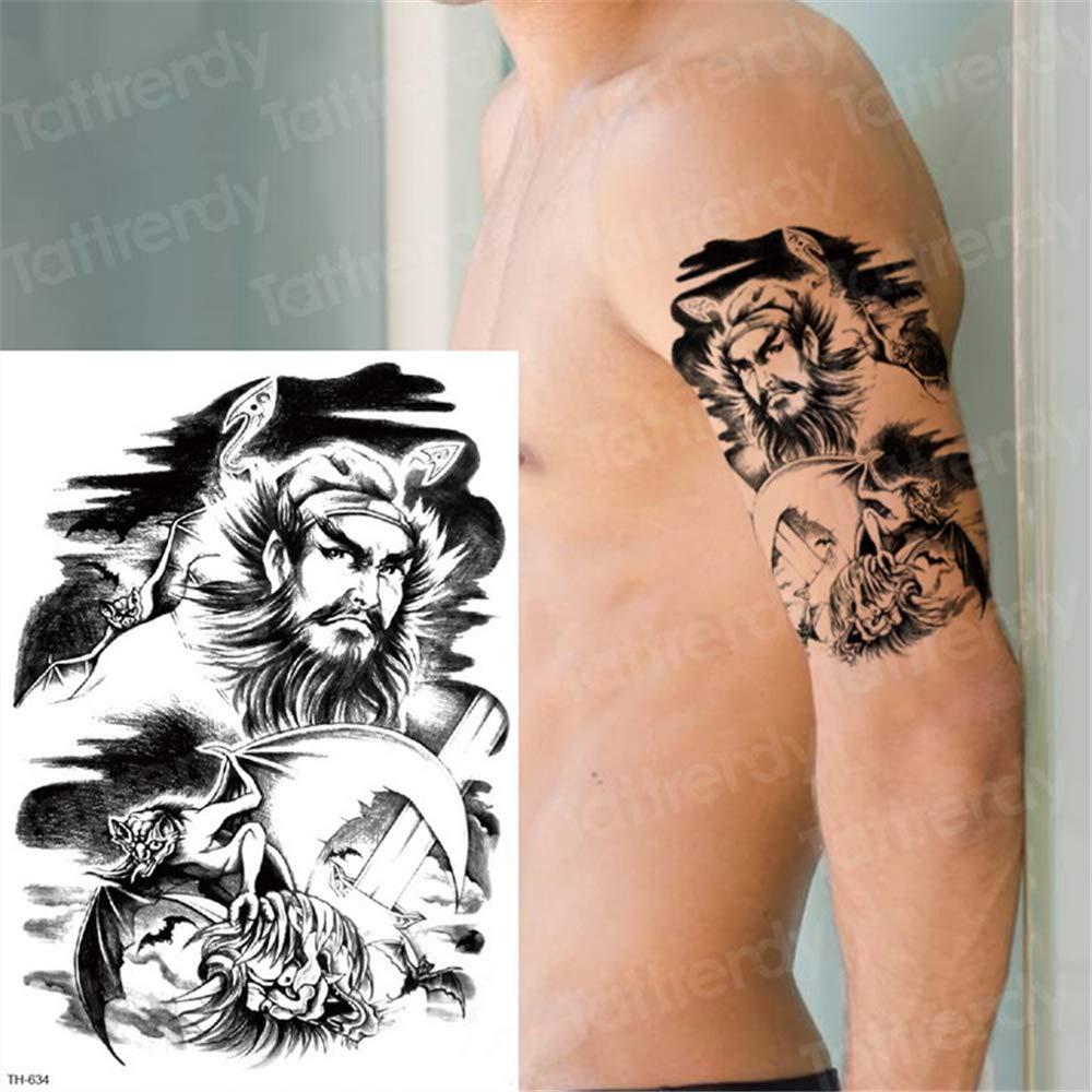 tzxdbh 3pcs Pegatinas Tatuaje Tatuajes Animales de Cabeza de ...