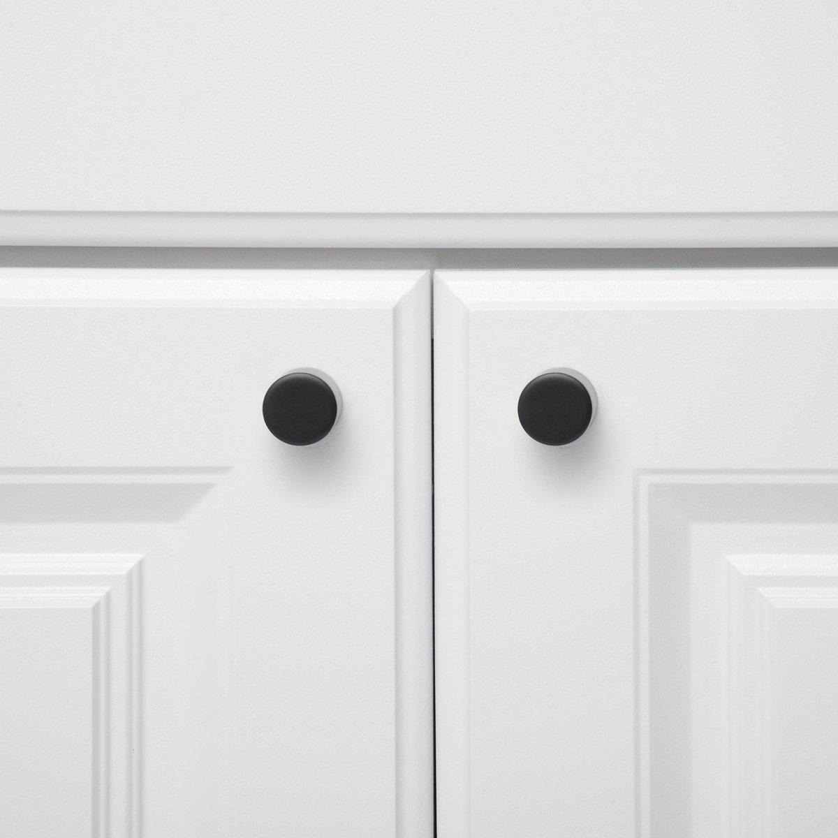 Pomo de armario Basics Paquete de 10 con forma de silbato Cromo pulido 1,9 cm de di/ámetro