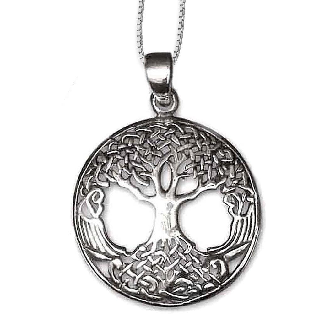 Anhänger Baum des Lebens Keltischer Lebensbaum Weltenbaum 925er Silber Schmuck Heilung mit Kette Halskette Silberkette 5500 DarkDragon 6615547878307-5500