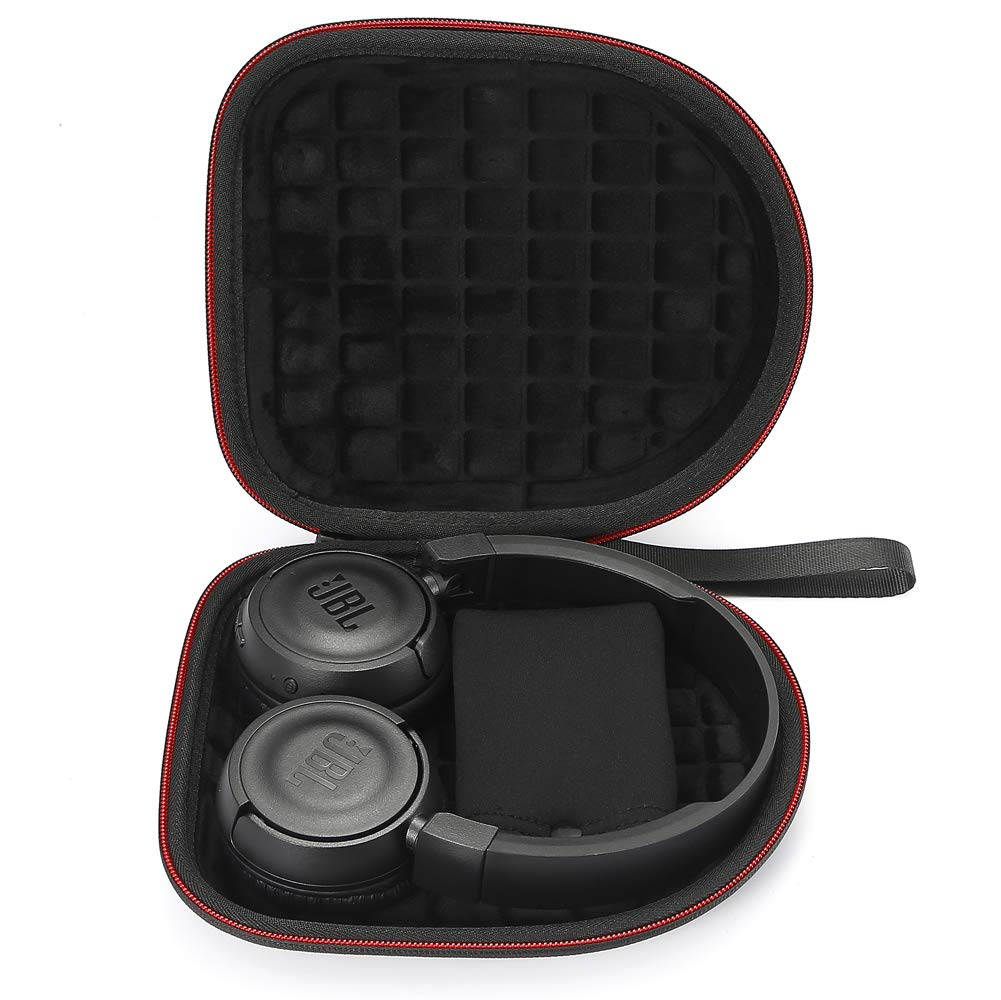 Fodera nero Custodia rigida per JBL T450BT // JBL T500BT Cuffie auricolari Bluetooth senza fili borsa da viaggio protettiva per il trasporto Nero