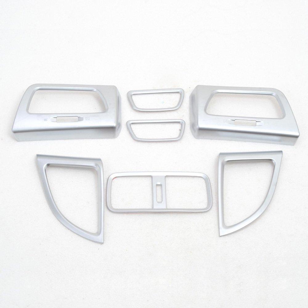 Interior Air Condition Vent Outlet CD Video Cover Trims For Honda CRV CR-V 2012-2014 ABS Matte 7PCS//SET