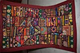 India Wall Hanging Beaded Vintage Sari Patchwork Tapestry Throw 83