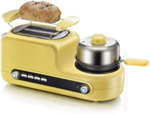 XXDTG Egg Genie by Big,3 in 1 Breakfast Station Center-2 Slice Toaster-Egg Cooker,Omelet,Bacon and Meat Steamer-One Touch Controls