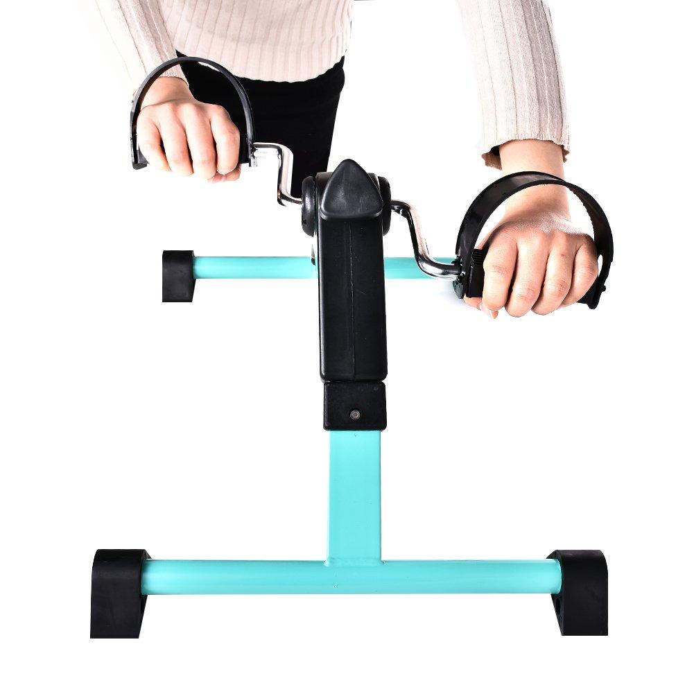 B BAIJIAWEI Portable Pedal Exerciser - Under Desk Exercise Machine - Arm & Leg Exercise Peddler - Folding Low Impact Exercise Bike for Seniors and Elderly by B BAIJIAWEI (Image #5)