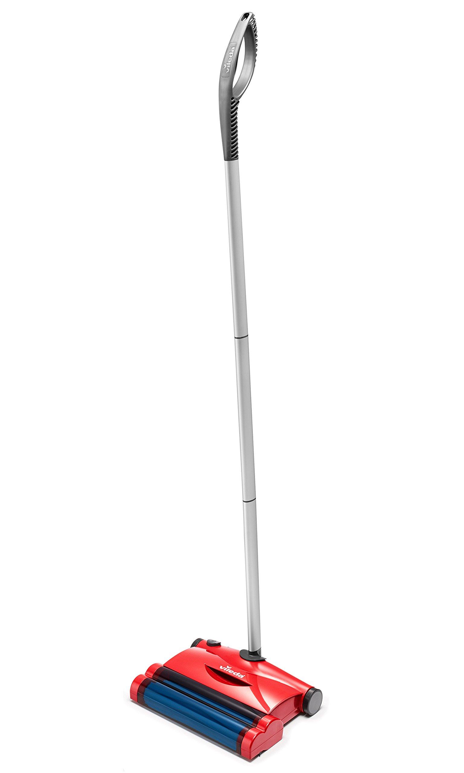 Vileda Quick & Clean - Escoba eléctrica inalámbrica y cepillo eléctrico con articulación flexible y 2