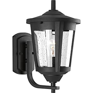 Progress Lighting P6074-31 Contemporary/Soft 1-100W Med Wall Lantern, Black