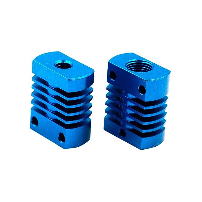 UKCOCO Bloque de enfriamiento del radiador del disipador de calor de aluminio para el extrusor de la impresora 3D MK10 plata