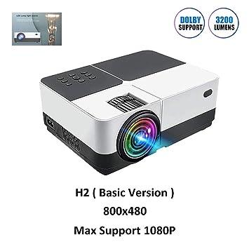 GJZhuan H2 Portable Projector 1080P Inicio HD Entretenimiento ...
