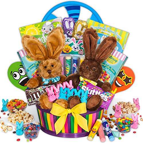 Double Bunny Easter Basket by GourmetGiftBaskets.com