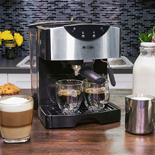 Evolution Espresso Machine (Best Espresso/Cappuccino Maker Machine Cafe- Automatic Dual System Stainless Steel, 15-Bar Pump System, 40-Ounce Water Reservoir fills)