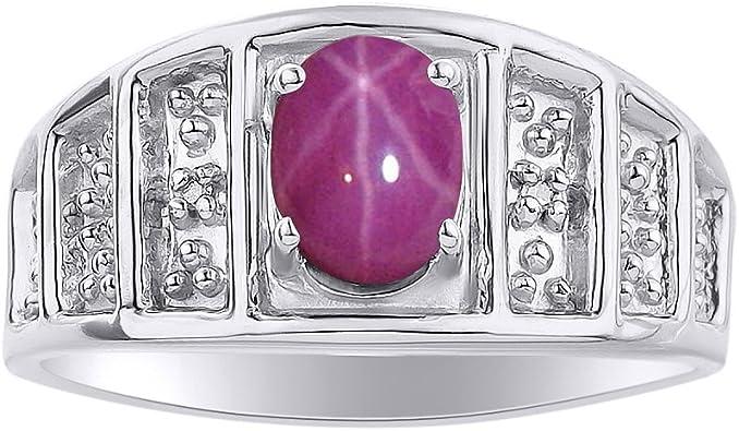 Star Ruby Ring Sterling Silver  Star Ruby Ring Silver