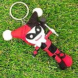 Harley Quinn Puppet Doll Keyring Keychain Comic Theme
