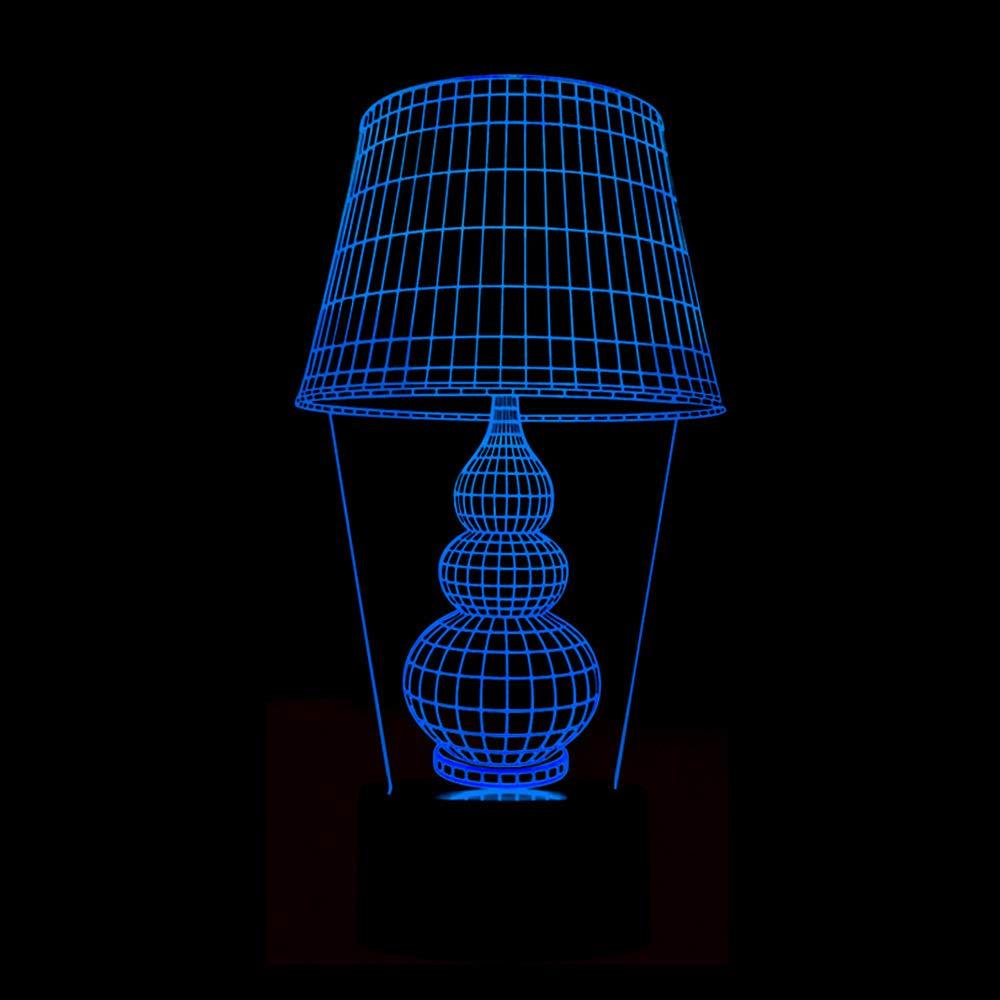 BFMBCHDJ Nueva forma de lámpara de mesa Lámpara 3D Colorido ...