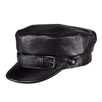c415ac5b6 Amazon.com : LIUXINDA-PM Men and Women Autumn and Winter Leather hat ...
