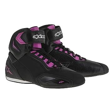 Zapatos moto Alpinestars estrella Faster 2 para mujer de piel, mujer, 25104161043, negro: Amazon.es: Deportes y aire libre