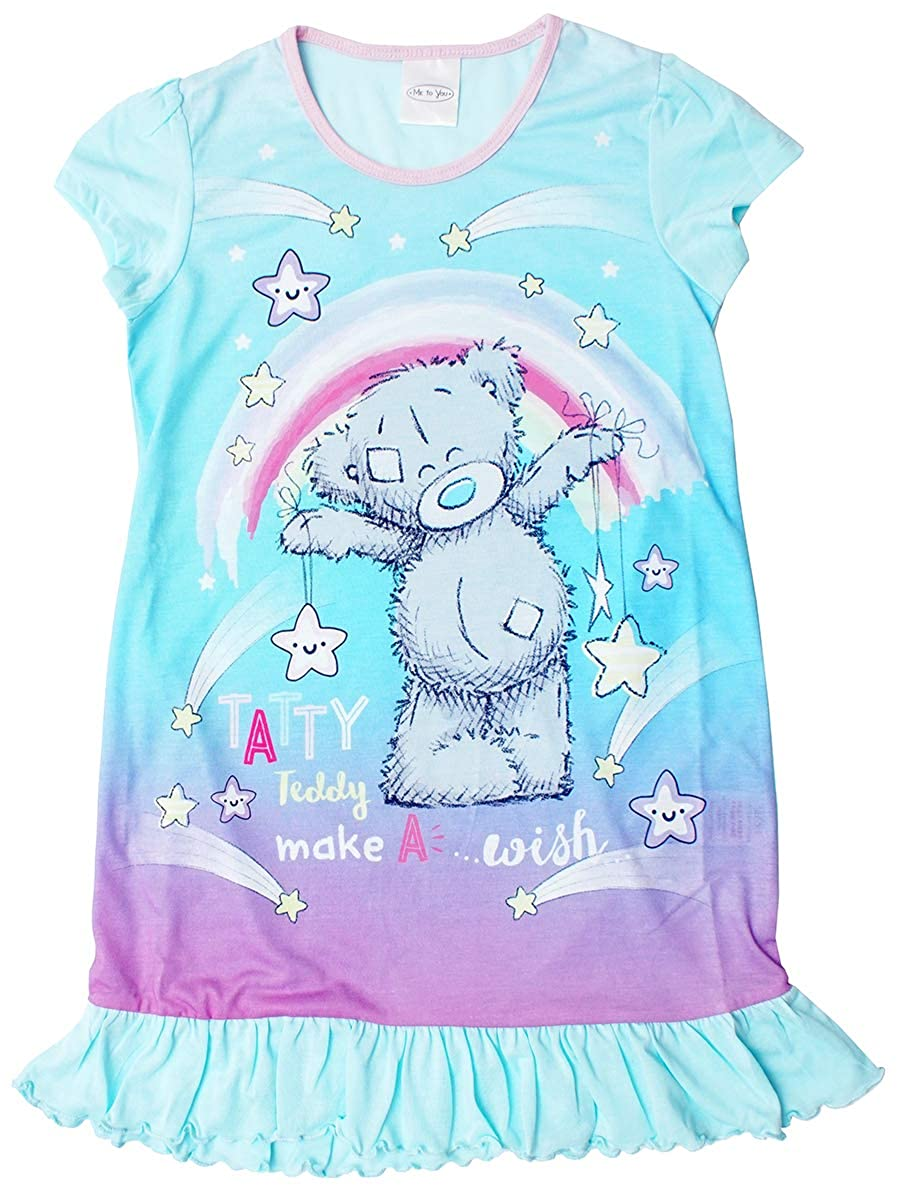 Girls Me to You Tatty Teddy Make a Wish Frill Hem Nightdress Nightie Sizes from 2 to 8 Years