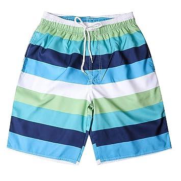 HMKYYJ Pantalones de chándal Casuales de Rayas Azules de Moda para ...